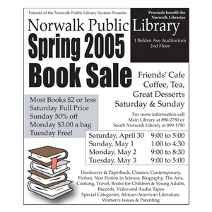 Book Sale Newspaper Advertisement