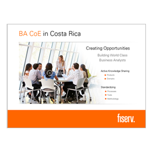 Fiserv BA CoE Screensaver